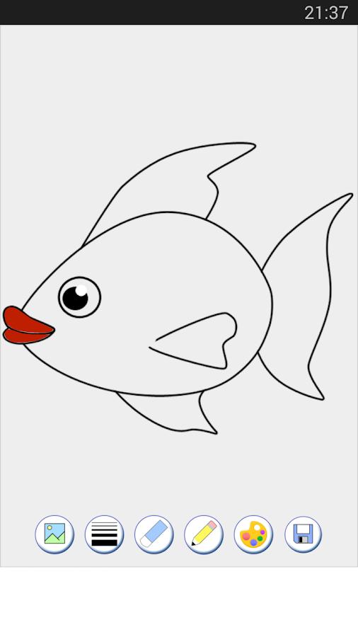 Игры раскраска рыбок