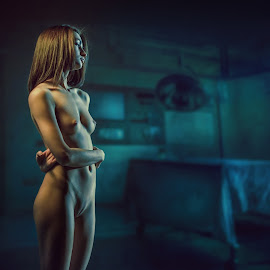 Twilight. by Dmitry Laudin - Nudes & Boudoir Artistic Nude ( girl, light house, dusk )