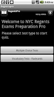 Screenshot of Regents Exams Pro