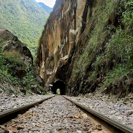 Train tunnel in the Andes by Tyrell Heaton - Instagram & Mobile iPhone ( train tunnel in the andes )
