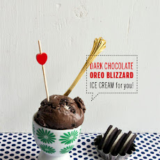 Dark Chocolate Oreo Blizzard Ice Cream