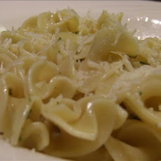 Buttered Noodles With Eggs and Parmesan Cheese