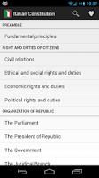 Screenshot of Italian Constitution 4.0