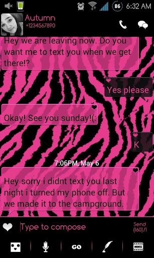 【免費個人化App】Go SMS Themes: Pink Zebra-APP點子