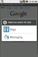 Screenshot of Diigodroid