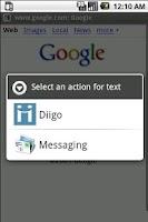 Screenshot of Diigodroid
