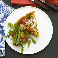 Heirloom Tomato and Mozzarella Tart