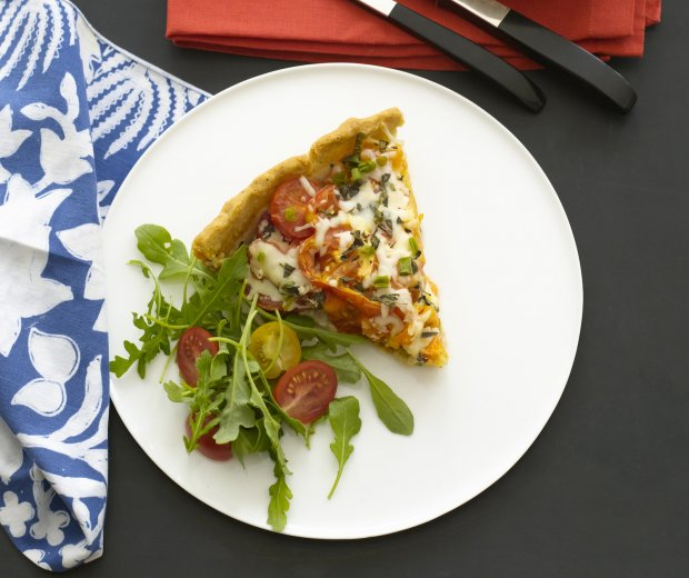 Heirloom Tomato and Mozzarella Tart Recipe | Yummly
