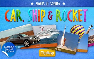 Screenshot of Toddler Car, Ship & Rocket HD