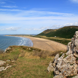Rhossili Beach, Gower, Swansea by John Davies - Landscapes Beaches ( gower, rhosilligower, swansea, beautiful beaches, gower peninsula, rhossili )