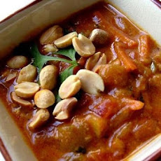 Peanut Soup with Rice and Scallions