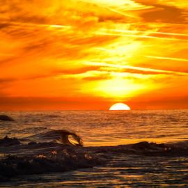 Tidal sunset by Diane Davis - Landscapes Sunsets & Sunrises