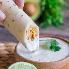 Baked Honey Lime Chicken Taquitos