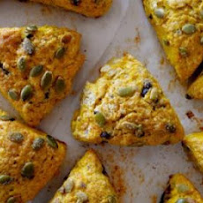 Dark Chocolate Pumpkin Scones