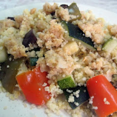 Roasted Vegetable Couscous With Hummus