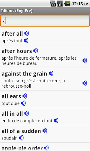 English-French Idioms