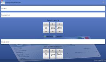 Screenshot of Tessera Sanitaria Italiana