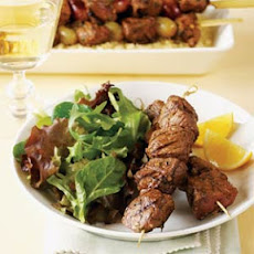 Grilled Lamb Brochettes with Lemon and Dill