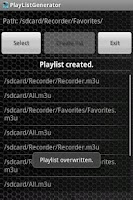 Screenshot of PlayList Generator