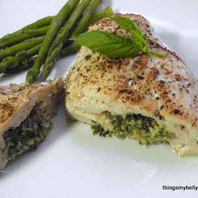 Walnut Pesto Stuffed Chicken