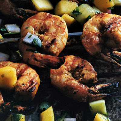 Shrimp Tikka with Fresh Mango Chutney