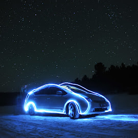 Prius 20 by Батмөнх Б. - Abstract Light Painting ( car, light painting, mongolia )