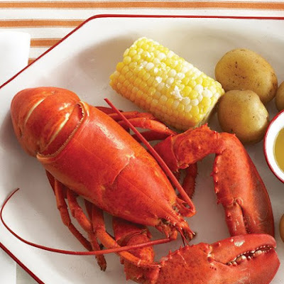Boiled Lobsters with Corn and Potatoes