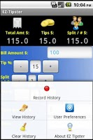Screenshot of EZ Tipster (Tip Calculator)