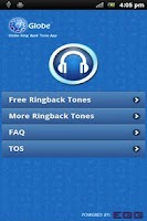Screenshot of Globe Ringback Tone