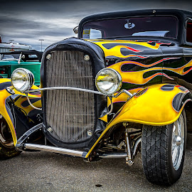 Flames by Ron Meyers - Transportation Automobiles