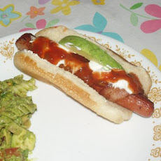Bacon-Wrapped Hot Dogs With Avocado