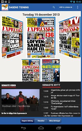 Expressen Tidning - screenshot