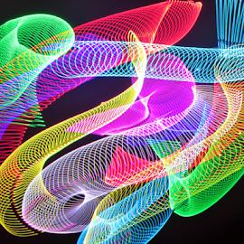 Spring to light !                 by Jim Barton - Abstract Patterns ( laser light, colorful, light design, laser design, springs, laser, laser light show, light, spring, science )