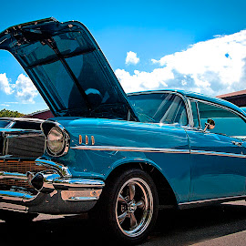 57 Chevy Bel Air by Nancy Senchak - Transportation Automobiles