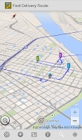 Screenshot of Fast Delivery Route