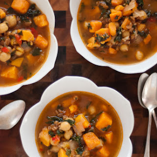 Vegan Sweet Potato, Kale and Chickpea Soup