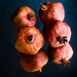 pomegranates by Prasanta Das - Food & Drink Fruits & Vegetables ( dry, pomegrantes )