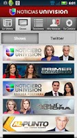 Screenshot of Noticias Univision