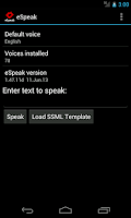 Screenshot of eSpeak
