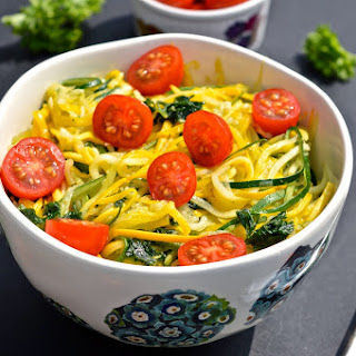 "Simple Summer Zucchini and Tomato ""Pasta"" (Paleo, SCD, GAPS)"