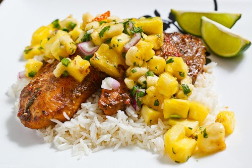 ... on Coconut Rice Topped with Banana and Pineapple Salsa Recept | Yummly