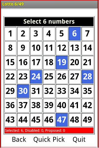 Lottery 6 49