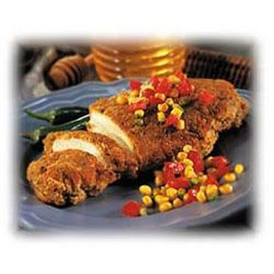 Crispy Jalapeno Honey Chicken with Tomato-Corn Confetti