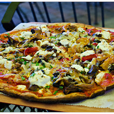 Mixed Mushroom and Goat Cheese Pizza