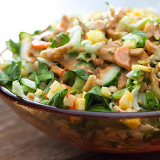 Bok Choy and Pineapple Salad with Peanut Dressing Recipe