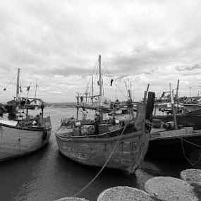 Parkir by Roly Raseda - Black & White Landscapes ( boat )