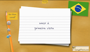 Screenshot of Portuguese Flashcards