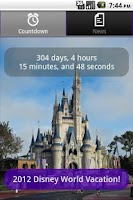 Screenshot of Disney World Countdown