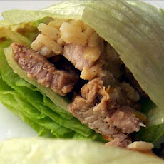 Vietnamese Pork and Scallion Lettuce Wraps