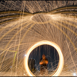 Fire painting by Ujjawal Saxena - Abstract Light Painting ( steel wool, painting, singapore, photography, fire )